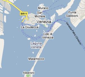 Cartina Lido Di Venezia.Lido Di Venezia Informazioni